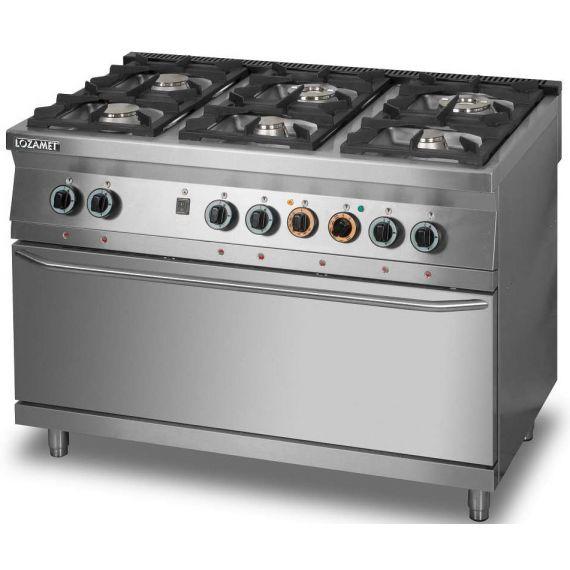 Kuchnia Gazowa 6 Palnikowa Z Piekarnikiem Elektrycznym 3 X Gn 1 1